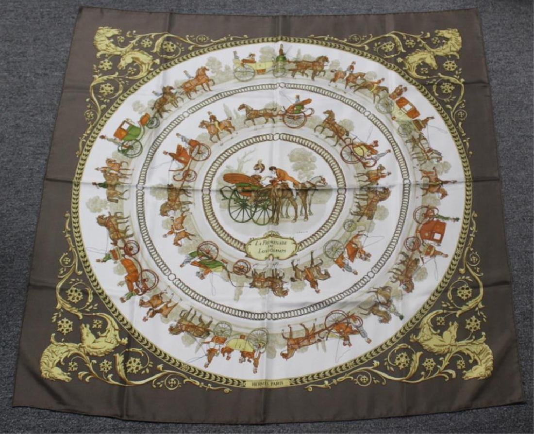 Grouping of Hermes Silk Scarves. - 5