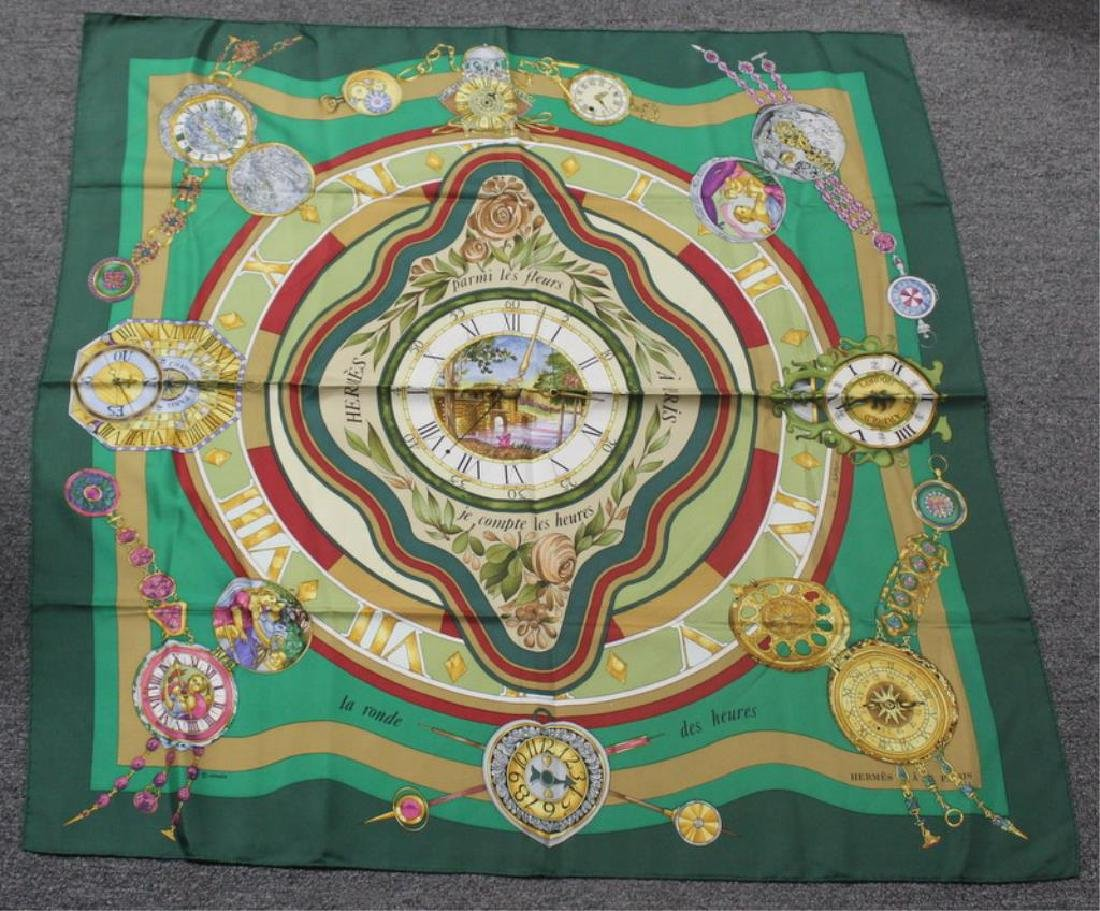 Grouping of Hermes Silk Scarves. - 6