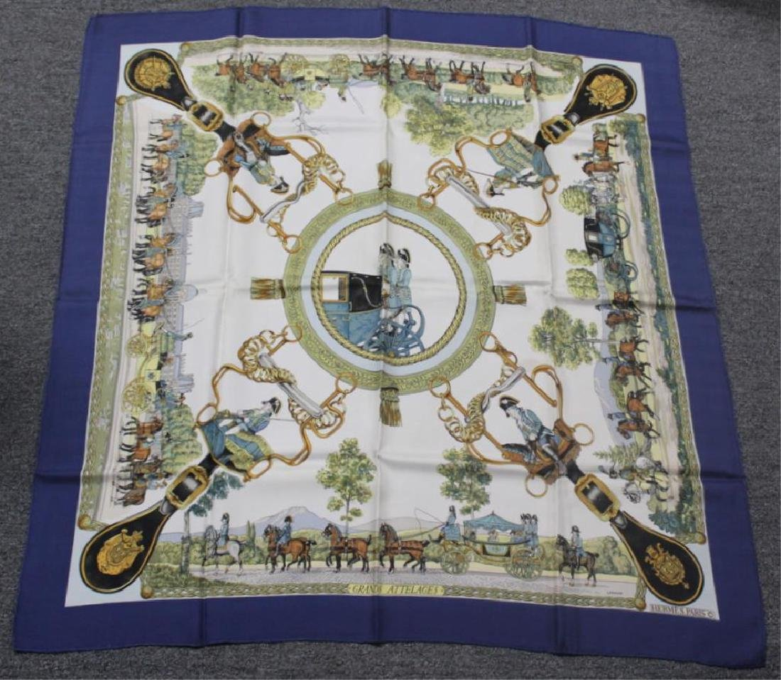 Grouping of Hermes Silk Scarves. - 7