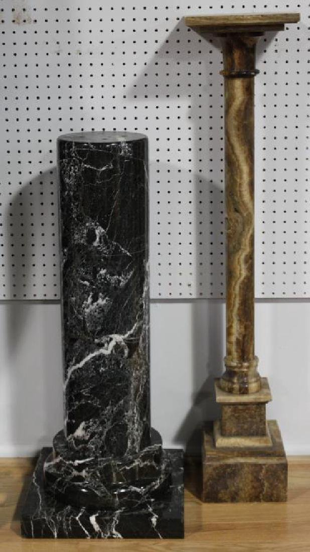 Lot of 2 Antique Pedestals To Inc .