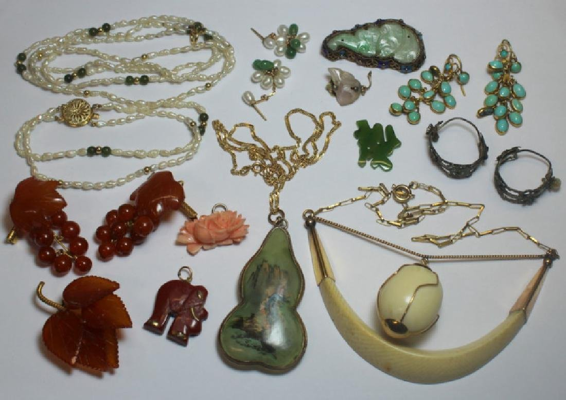 JEWELRY. Assorted Asian Jewelry Grouping.