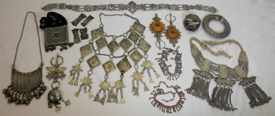 JEWELRY. Large Grouping of Tribal Jewelry.