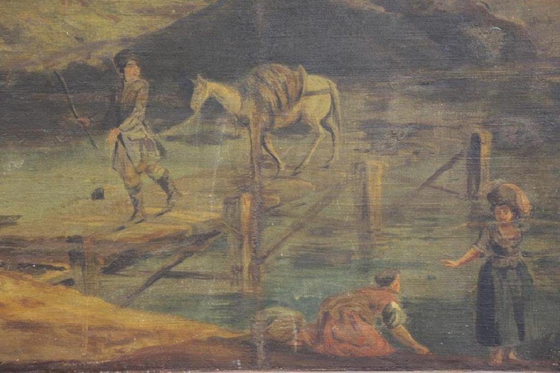 18th/19th C. Oil on Canvas. Fisherfolk in - 3