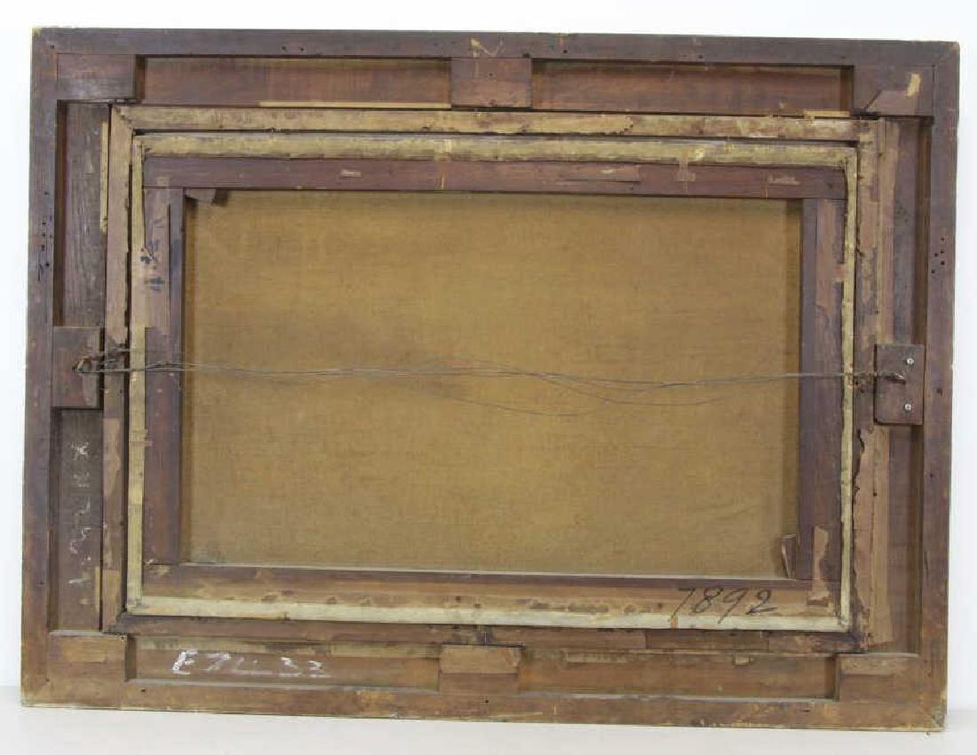 """Attributed to Thomas Girtin. """"Tintern Abbey"""" Oil - 10"""