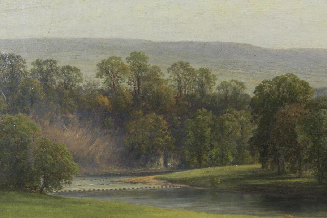 """Attributed to Thomas Girtin. """"Tintern Abbey"""" Oil - 7"""