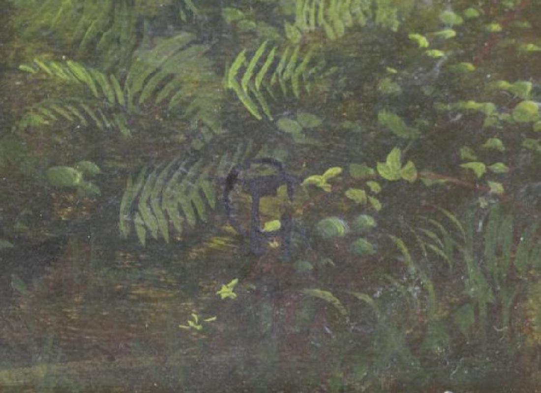 """Attributed to Thomas Girtin. """"Tintern Abbey"""" Oil - 8"""