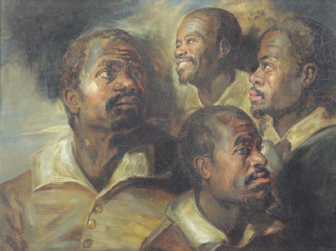 After Rubens. 19th C. Oil on Canvas. Four Studies