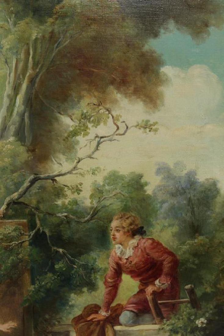 """After Fragonard. Pair of Oils on Canvas From """"The - 5"""