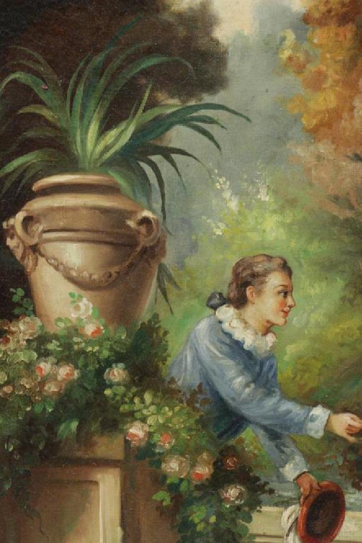 """After Fragonard. Pair of Oils on Canvas From """"The - 8"""