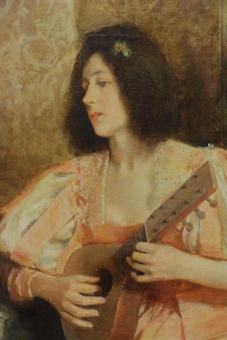 "RIBERA CIRERA, Roman. Oil on Canvas. ""The Music - 3"