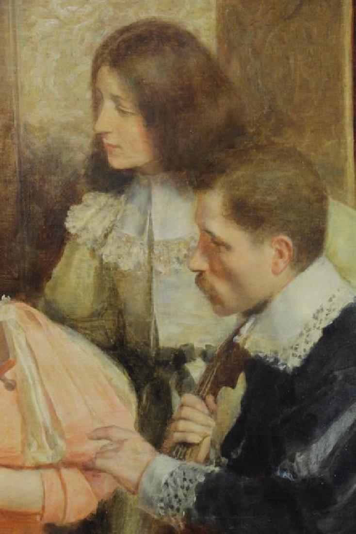 "RIBERA CIRERA, Roman. Oil on Canvas. ""The Music - 4"