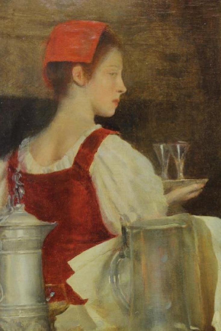 "RIBERA CIRERA, Roman. Oil on Canvas. ""The Music - 5"