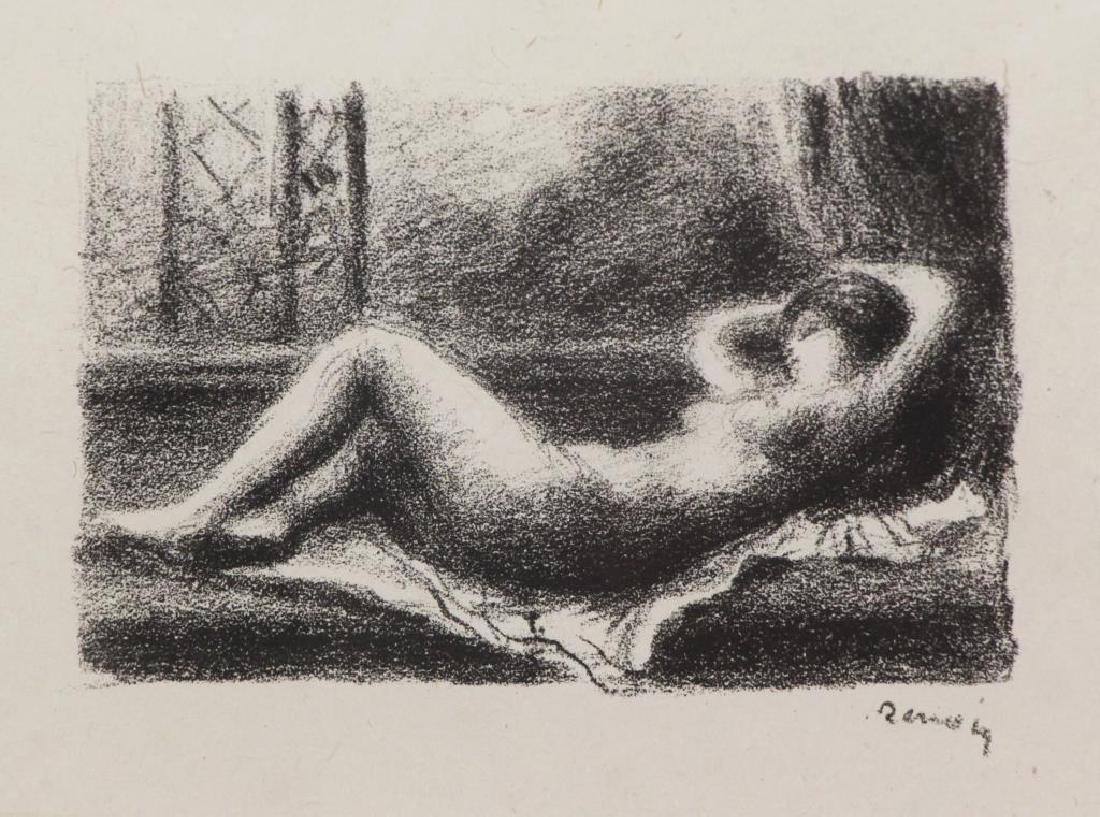 "RENOIR, Pierre-Auguste. Lithograph  ""Odalisque""."
