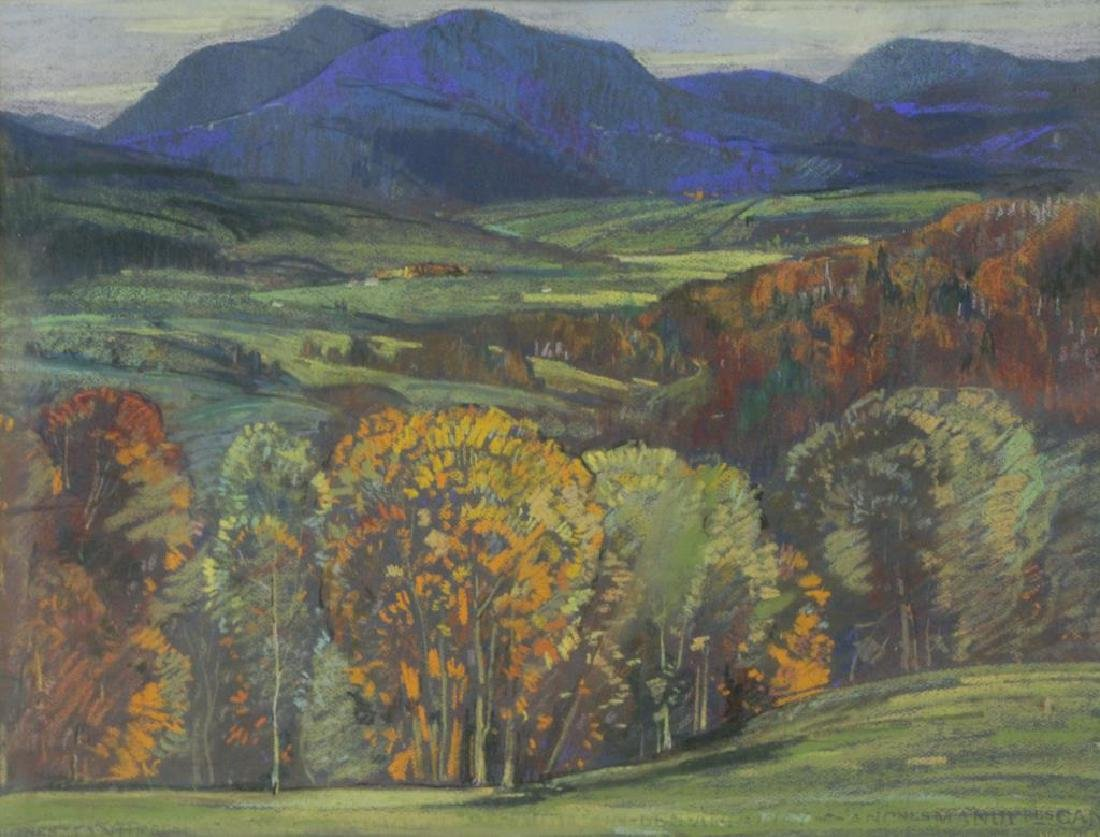 NORWELL, Graham. Pastel on Paper. Autumn Landscape