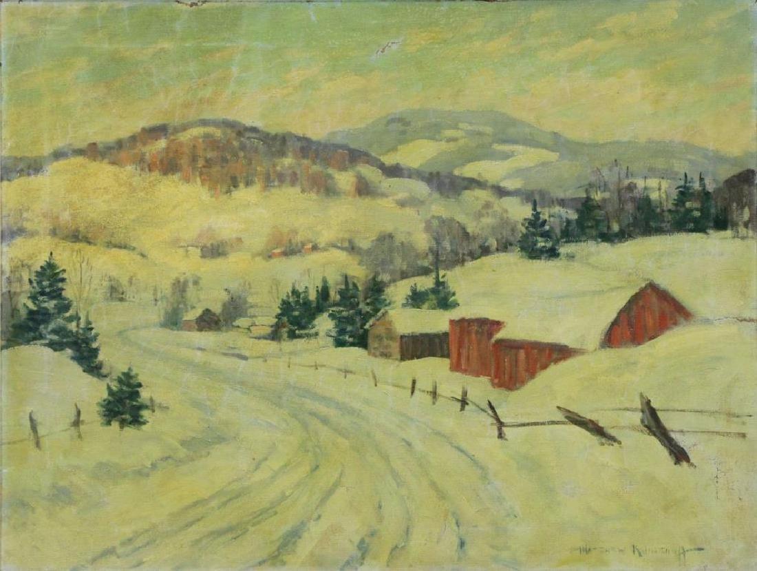 KALMENOFF, Matthew. Oil on Canvas. Winter
