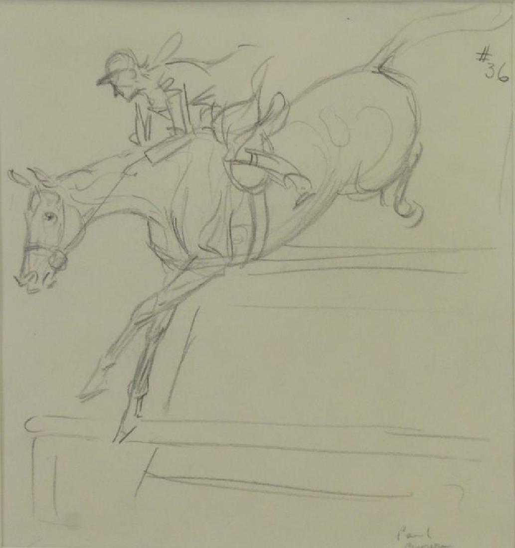 BROWN, Paul. Five (5) Equestrian Illustrations. - 4
