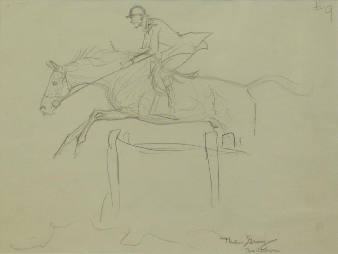 BROWN, Paul. Five (5) Equestrian Illustrations. - 5