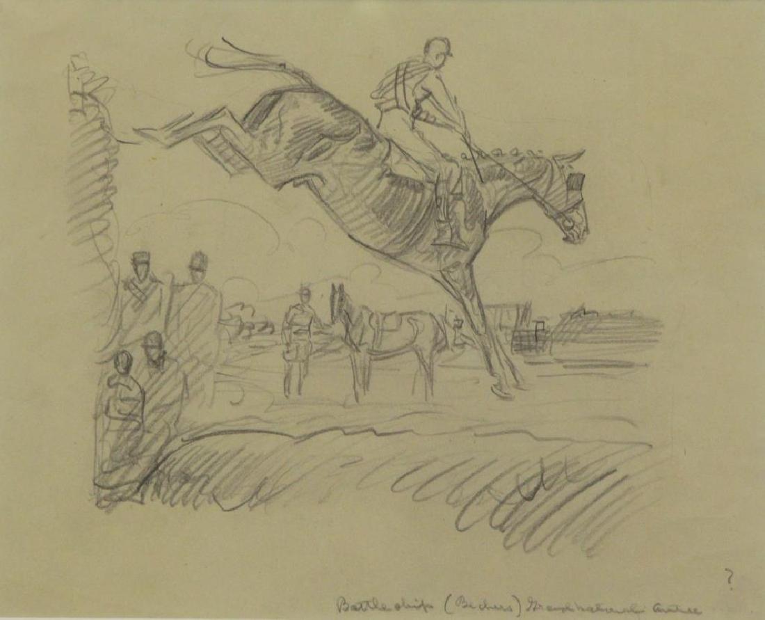 BROWN, Paul. Five (5) Equestrian Illustrations. - 7
