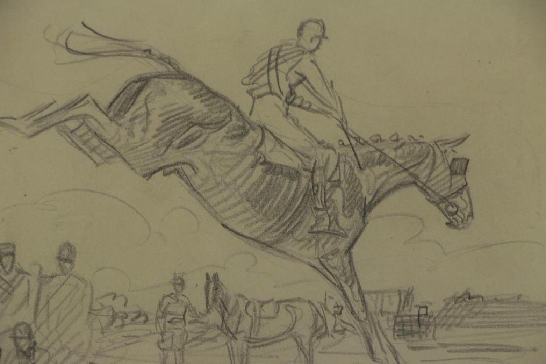BROWN, Paul. Five (5) Equestrian Illustrations. - 8