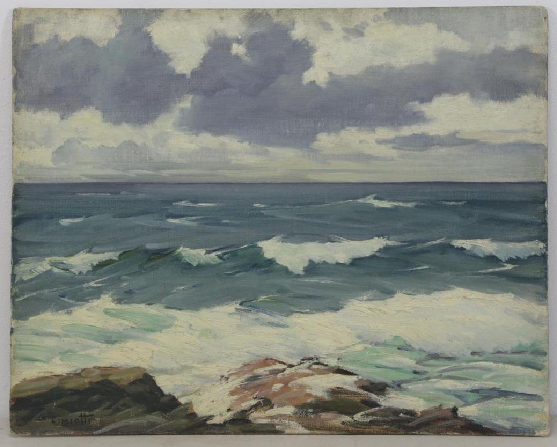 "CIMIOTTI, Gustave. Oil on Board. ""The Gray Blue - 2"