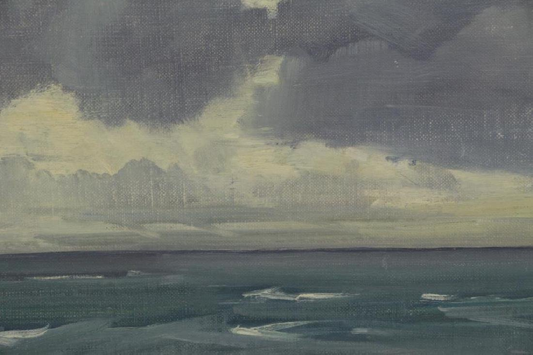 "CIMIOTTI, Gustave. Oil on Board. ""The Gray Blue - 4"