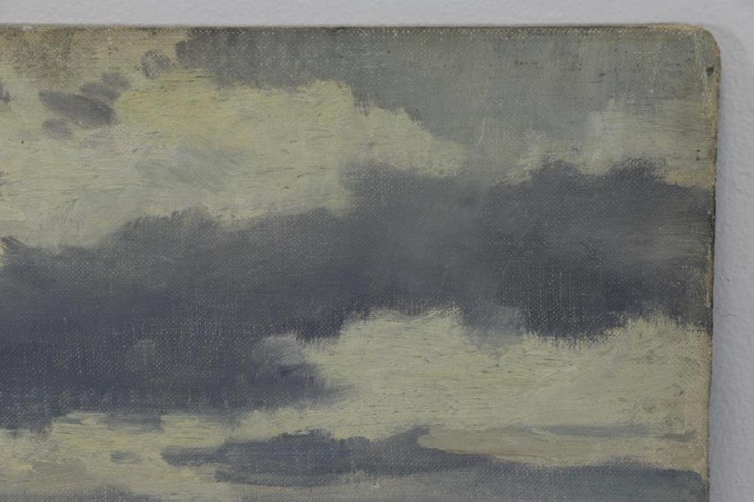 "CIMIOTTI, Gustave. Oil on Board. ""The Gray Blue - 6"