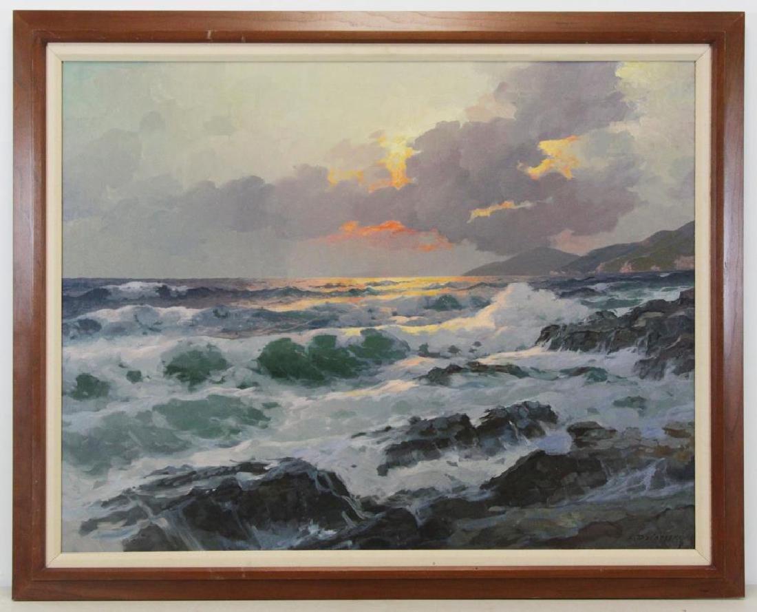 DZIGURSKI, Alex. Oil on Canvas. Sunset Seascape. - 2