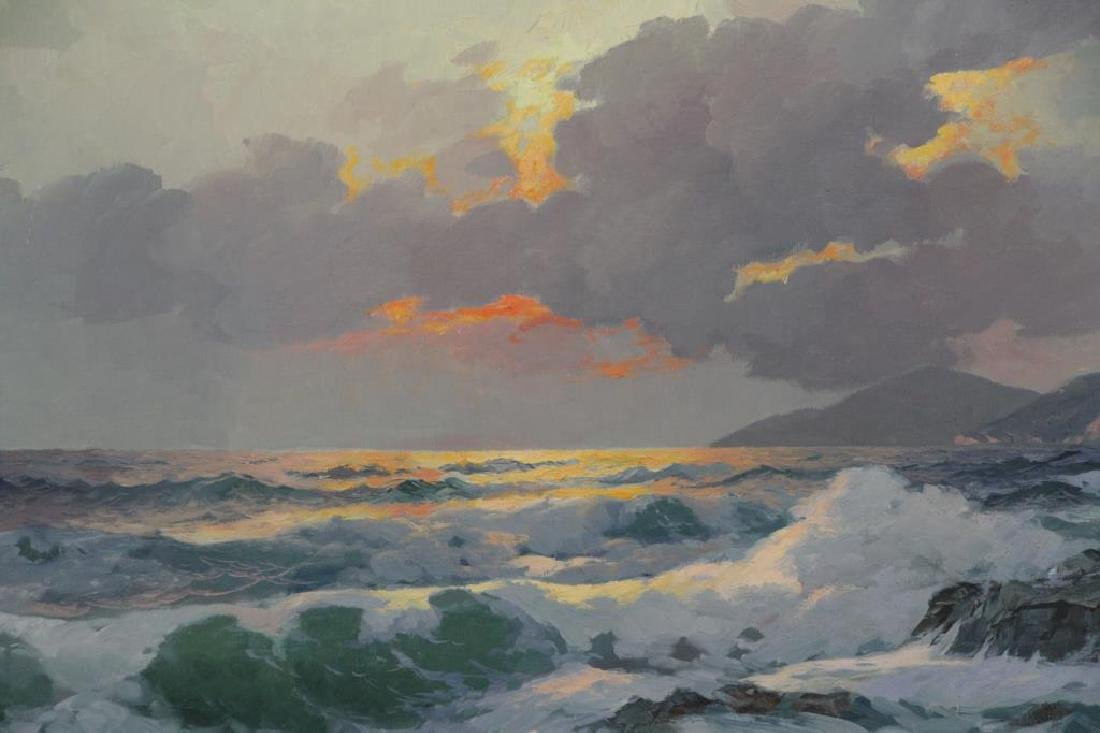 DZIGURSKI, Alex. Oil on Canvas. Sunset Seascape. - 3