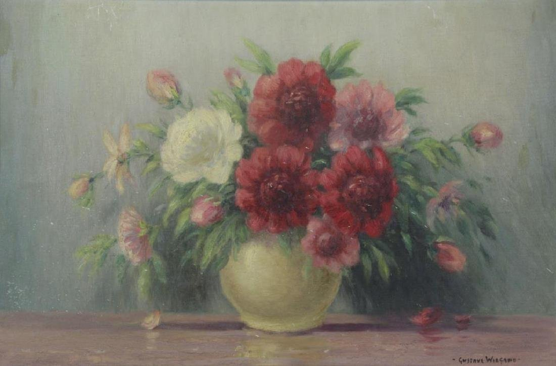 WIEGAND, Gustave. Oil on Canvas. Still Life of