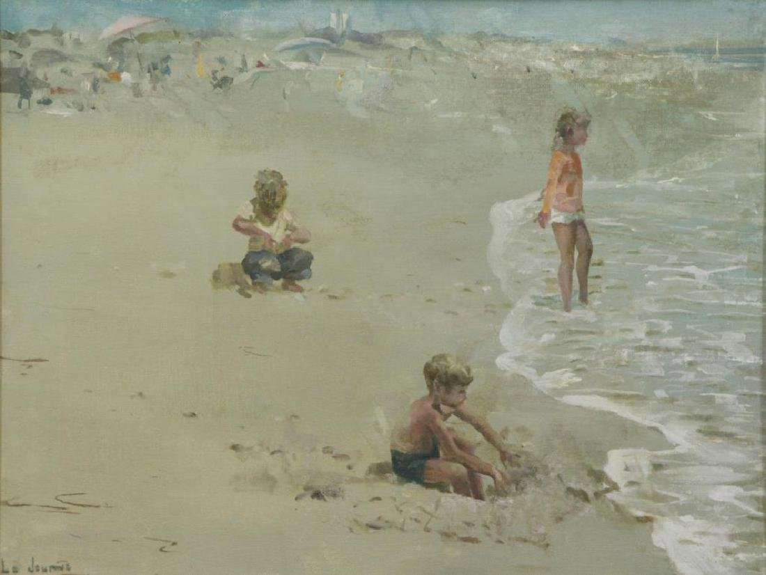 LE JEUNE, James. Oil on Board. Children at the