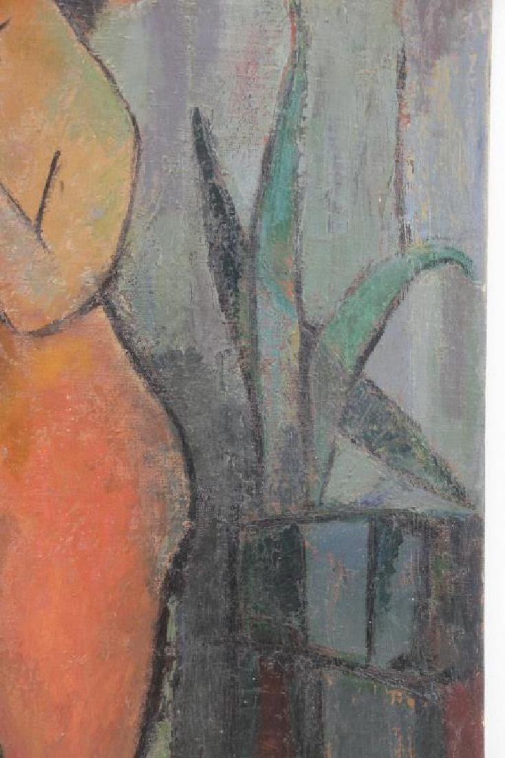 MOSCA, August. Oil on Canvas. Nude with Plant,1955 - 4