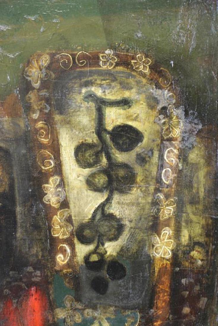 "COIGNARD, J. Oil on Canvas ""Bouteille et Raisins"". - 5"