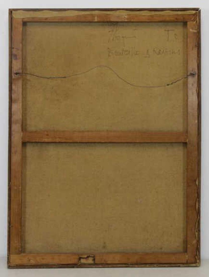 "COIGNARD, J. Oil on Canvas ""Bouteille et Raisins"". - 6"