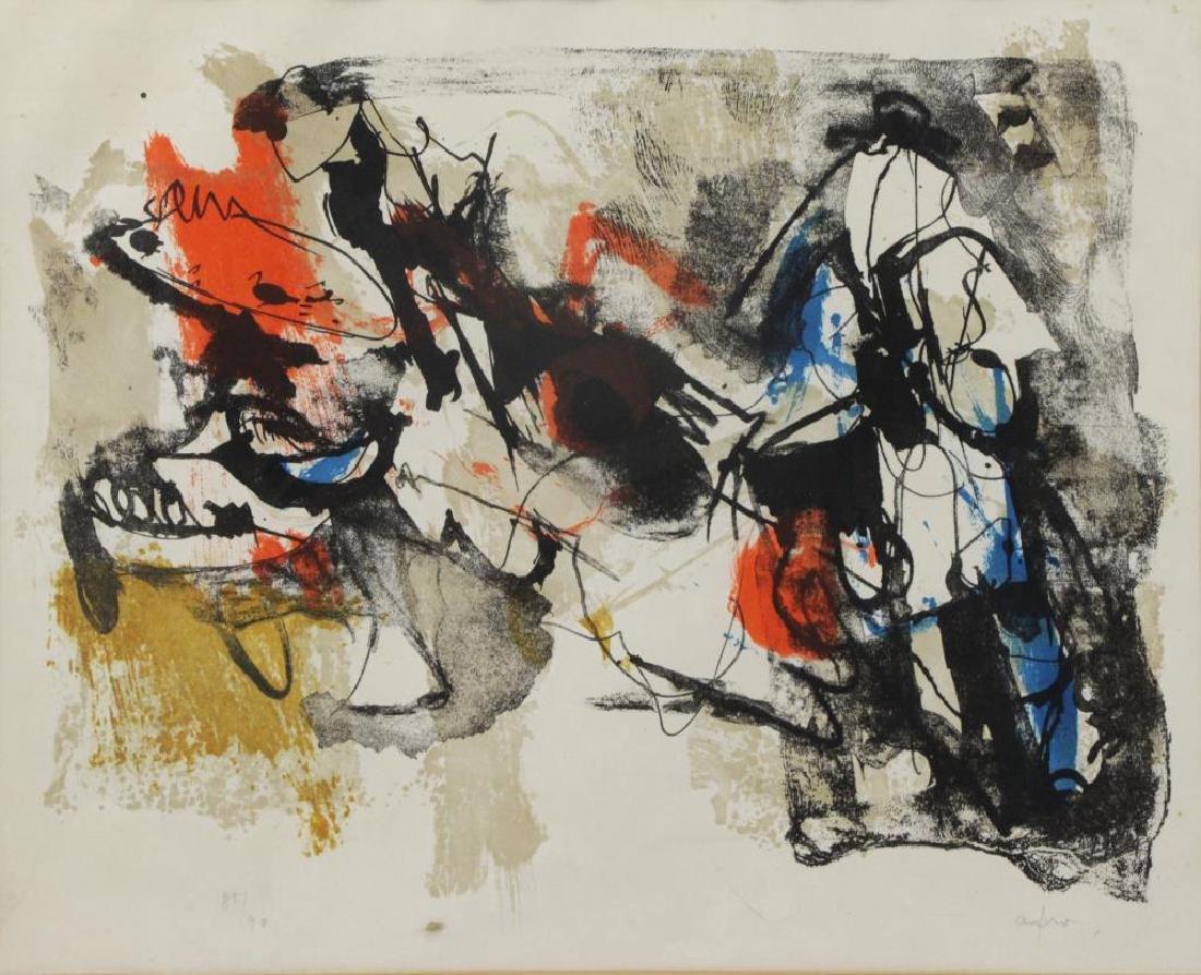 BASALDELLA, Afro. Color Lithograph. Untitled.
