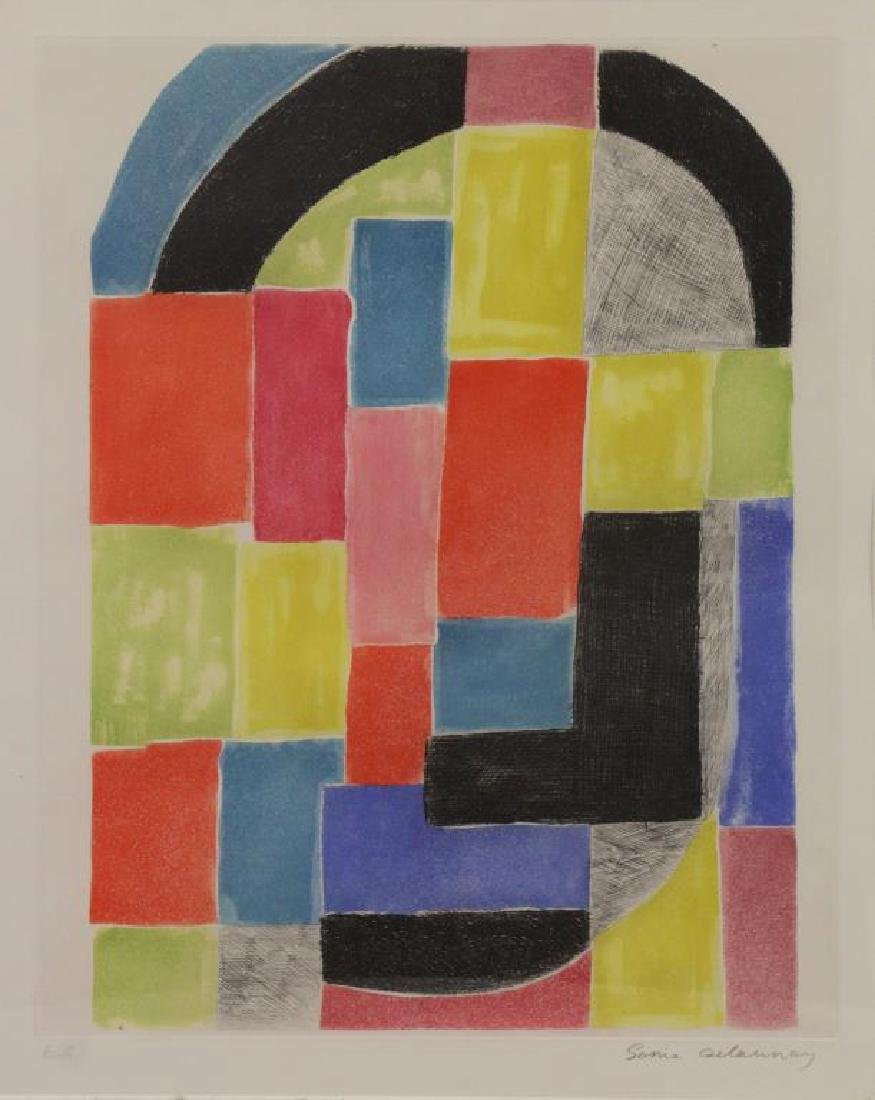 DELAUNAY, Sonia. Etching and Aquatint in Colors.