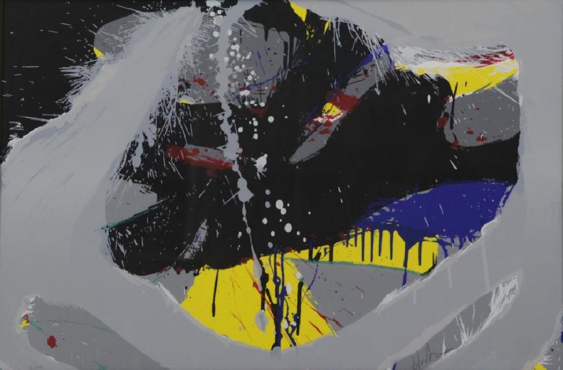 BLUHM, Norman. Screenprint in Colors. Untitled.