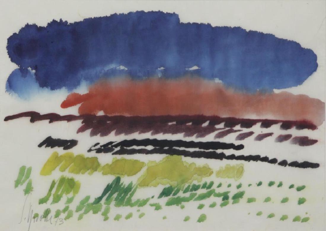 SPROTTE, Siegward. Watercolor on Paper. Landscape.