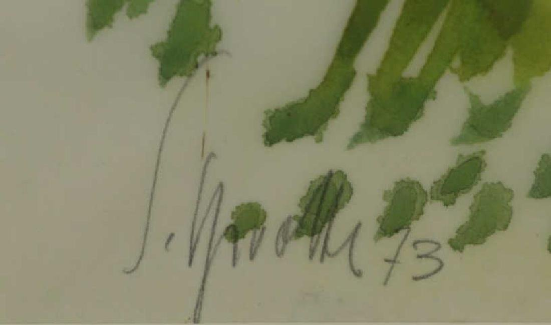 SPROTTE, Siegward. Watercolor on Paper. Landscape. - 4