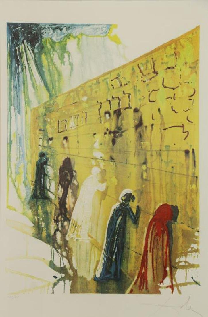 "DALI, Salvador. Embossed Color Lithograph ""Wailing"