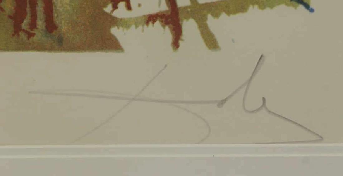 "DALI, Salvador. Embossed Color Lithograph ""Wailing - 4"