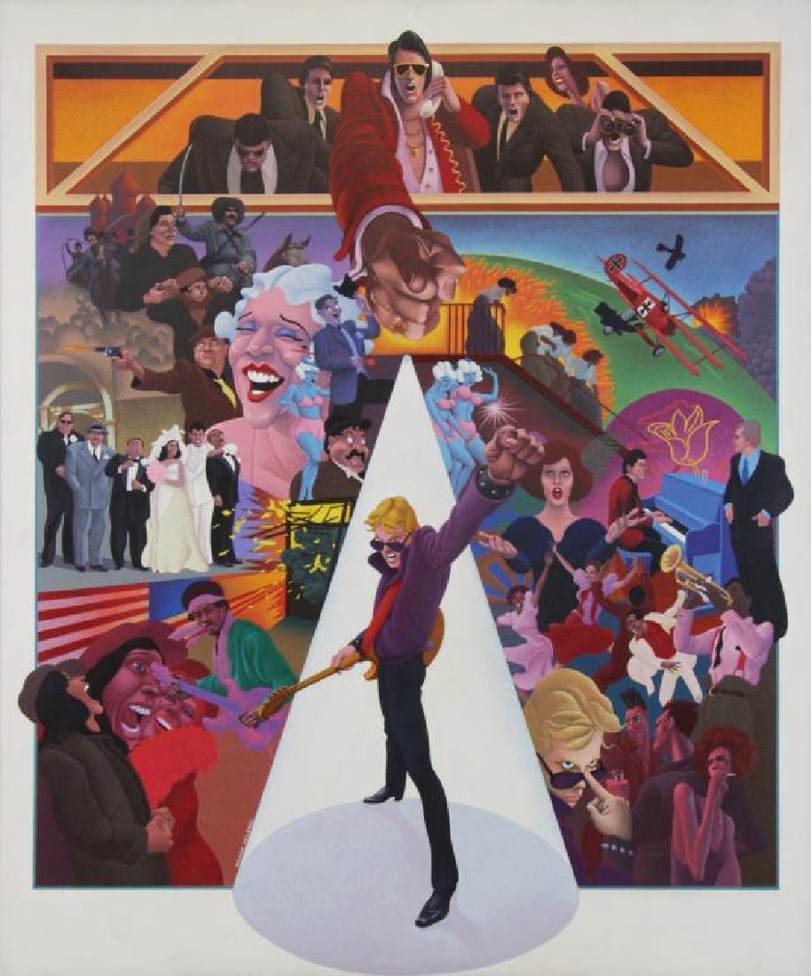 "MCLEAN, Wilson. Oil on Canvas ""American Pop"""