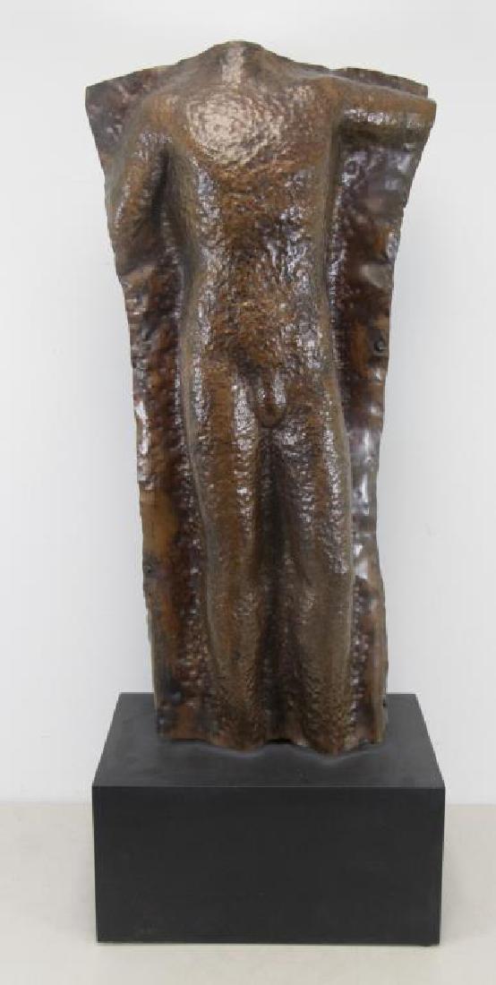BAIZERMAN, Saul. Hammered Copper. Male Torso.