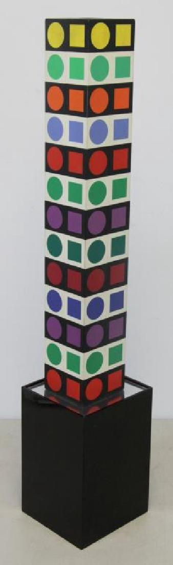 "VASARELEY, Victor. ""NBC 35"". Wood with Plastic"