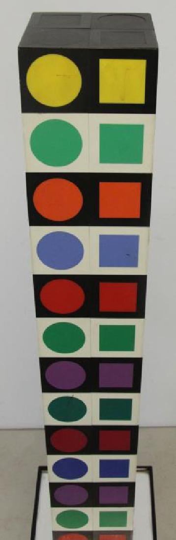 "VASARELEY, Victor. ""NBC 35"". Wood with Plastic - 4"