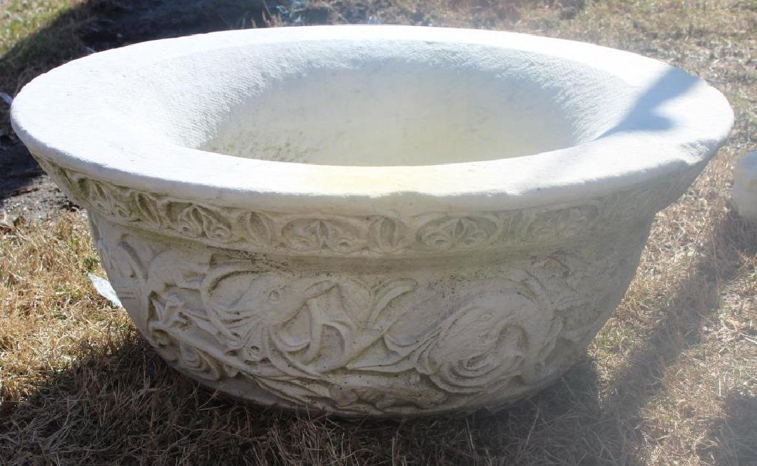 Antique Marble Pedestal Planter As Found . - 2