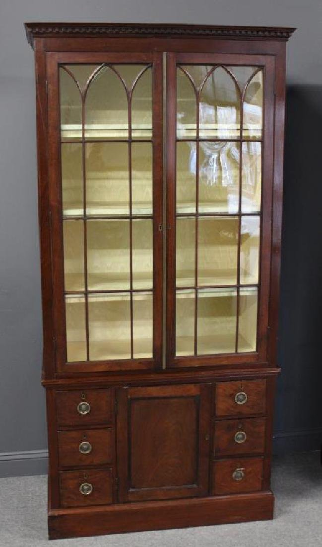 A Fine Pair of Antique Mahogany China Cabinets. - 2