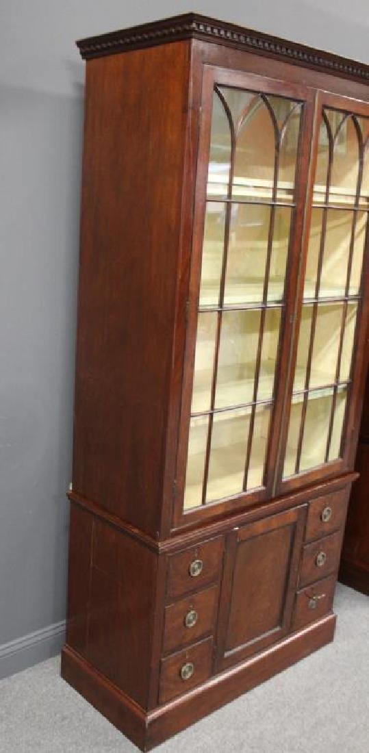 A Fine Pair of Antique Mahogany China Cabinets. - 3