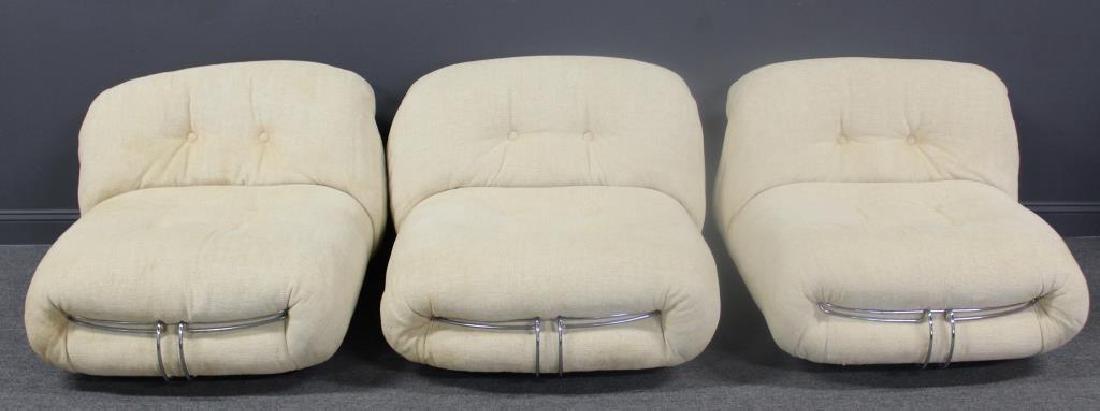 3 Tobias Scarpa Soriana Lounge Chairs