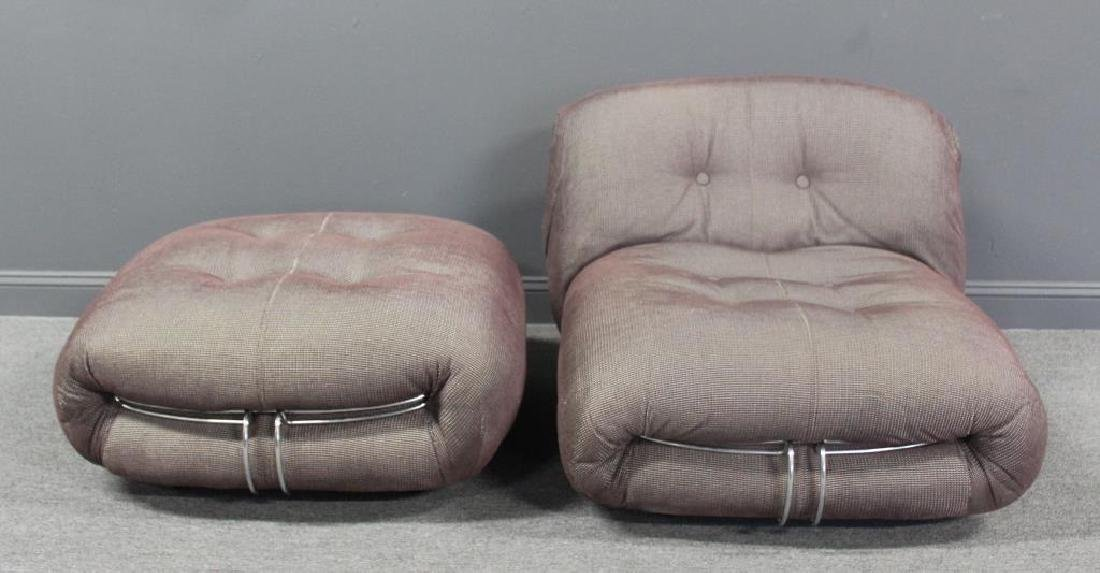Tobias Scarpa.Soriana Chair and Ottoman