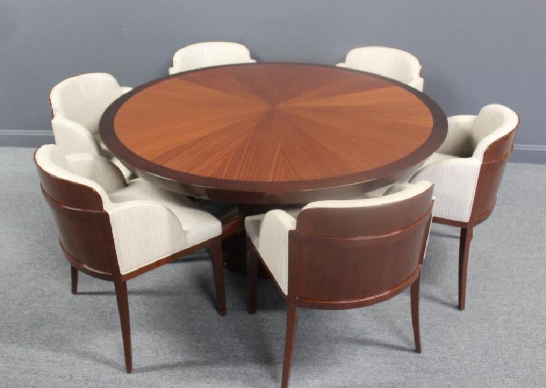 Magnificent Art Deco Style Table and 6 Chairs ,